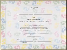 Printable baby dedication certificate digital by studiobparties baby dedication certificate template free yadclub