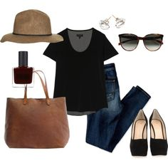 Simple and Chic by angela-reiss on Polyvore featuring rag & bone, American Eagle Outfitters, Giuseppe Zanotti, Madewell, Satomi Kawakita, Topshop, CÉLINE and RGB