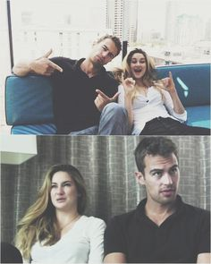 Shailene Woodley & Theo James at SDCC #DIVERGENT