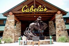 Cabellas Buda TX - Lots of animals to see, a restaurant upstairs that serves buffalo burgers & also clothes & outdoor sports equipment among other things.