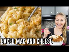 A classic and easy baked mac and cheese recipe! This recipe is dangerously easy to make and is topped off with a buttery, crisp toasted panko topping! Easy Baked Mac And Cheese Recipe, Macaroni Cheese Recipes, Bake Mac And Cheese, Mac And Cheese Homemade, Baked Macaroni, Jamaican Dishes, Easy Dinner Recipes, Easy Dinners, Dinner Ideas