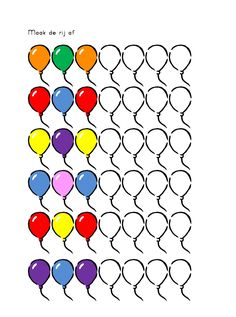 * Maak de ballonnenreeks af....