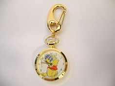 Colibri Winnie The Pooh with Honey Pot and Bee's Pendant Clip Watch or Charm