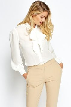 Tie Up Flare Sleeve Blouse