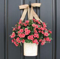 Spring  Wreath Outdoor Spring Wreath Spring by twoinspireyou, $85.00
