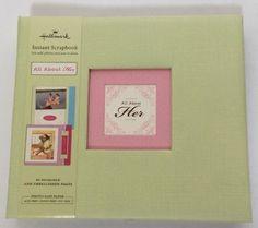 """New Hallmark Instant Scrapbook """"All About Her"""" Theme #Hallmark"""