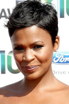 Nia Long Black Short Hairstylesshort