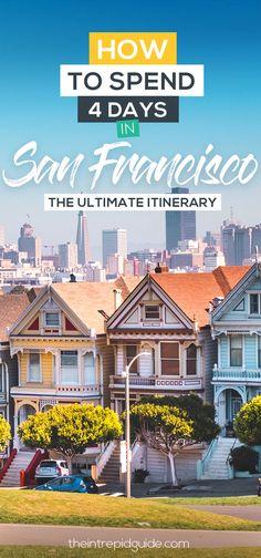 30 uber fun things to do in san francisco - ultimate 4 day itinerary. us travel San Francisco Travel Guide, San Francisco Vacation, San Francisco California, San Francisco Girls Trip, San Francisco Quotes, San Francisco To Do, Budapest, Travel Guides, Travel Tips