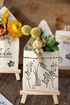 Mini-Briefumschläge aus Tetrapak - die perfekte Tischkarte - Tischlein deck dich Tetra Pak, Recycled Art, Land Art, Homemade Gifts, Diy Tutorial, Stampin Up, Diy And Crafts, Upcycle, Goodies