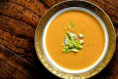 Creamy Sweet Potato Soup  - this is fantastic!  I just made it for dinner.