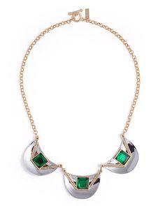 Emerald Shield Necklace - JewelMint