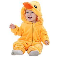 TiaoBug Infant Baby Boys Girls 3D Cartoon Animal Costume Halloween Hooded Romper Jumpsuit