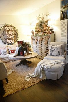 Cottage Christmas Living Room Tour This Rustic Cottage Christmas