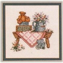 Sentimental Country Cross Stitch Patterns Gods Gift Love Floral Border