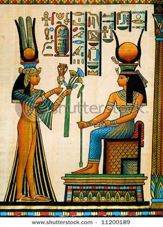 Egypt... Isis and cleopatra I believe. Very interesting beliefs and traditions.