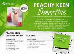 Delicious protein smoothie. www.theskinnywrapdiva.com