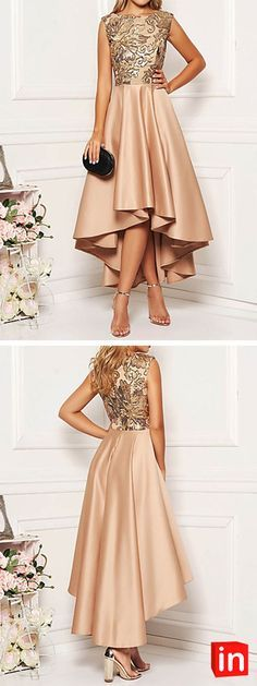 Women's Elegant A Line Dress Women's Elegant A Line Dress - Floral Khaki M L XL XXLYou can find Dressy dresses and more on our website. Women's A Line Dresses, Dressy Dresses, Cute Dresses, Beautiful Dresses, Prom Dresses, Pageant Gowns, Cheap Party Dresses, Party Dresses Online, Party Outfits