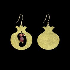 Nuvano's Persian heritage combines with her western life to create the kind of jewelry that brings out the richness and colorfulness of Iran with the contemporary and symmetrical taste of the west. That point is ever radiating in this Persian Pomegranate Earrings Shop these Persian pieces and more online at http://www.alangoo.com/nuvano