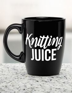 What's your pleasure? Knitting juice. Mug available on Etsy (affiliate link)