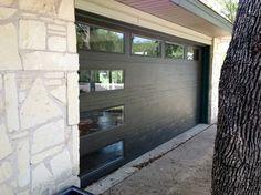 Cowart Door - Modern flush insulated door with windows modern-garage-and-shed