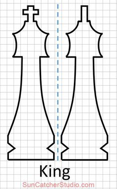 Chess Pieces – Looking for FREE Chess Pieces Patterns? Diy Chess Set, Chess Set Unique, Chess Sets, Queen Chess Piece, Scroll Saw Patterns Free, Word Art Design, Wood Carving Patterns, Wood Turning Projects, Chess Pieces