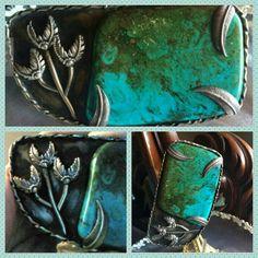 Turquoise Stone Boho Belt Buckle, Fabulous Groovy Retro Buckle 1960s - 1970s, Work of Art, Collectors Piece