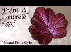 Paint a concrete leaf in a natural pink style with a dry brushing technique and using acrylic paint. Undercoat your concrete leaf with a base coat of acrylic. Outdoor Water Features, Water Features In The Garden, Ponds Backyard, Backyard Waterfalls, Garden Ponds, Koi Ponds, Garden Fountains Outdoor, Water Fountains, Concrete Leaves