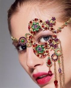 District 1—http://rubies.work/0811-multi-gemstone-earrings/ Jeweled Face Mask