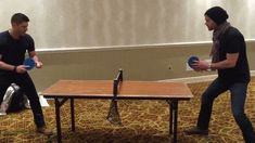 Is this a mini pong table? Or is it just dwarfed by their size?