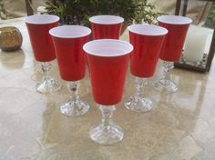 set of 6 red solo cup wine glasses redneck hillbilly fun unique gift party cups redneck christmaschristmas ideaschristmas - Redneck Christmas Ideas