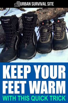 A simple and easy way to keep your feet warming in the winter that only costs a few dollars (if that). Watch this video to see how it's done.