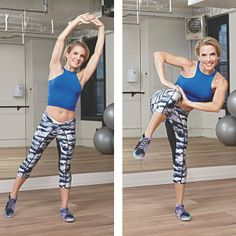 Anna Kaiser, Celebrity Trainer for Shakira, Kelly Ripa and SJP, rocks Women's Health Magazine with Turn It On Speed Pant.