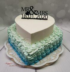 Hochzeitstorte / Sahnetorte Birthday Cake, Desserts, Food, Cream Pie, Sugar, Pies, Tailgate Desserts, Birthday Cakes, Deserts