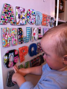 Magnetic Plush Fabric Alphabet Letters Unisex by CrunchyFarmBaby