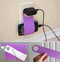 brilliant! but instead of looping it to the socket you could put a push pin into the wall beside it and then just remove it when finished- minimal wall damage and no fire hazard.