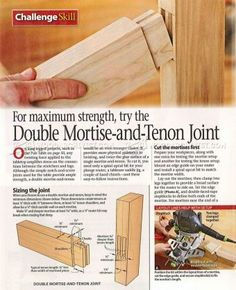 #1178 Double Mortise and Tenon Joint - Joinery Tips, Jigs and Techniques