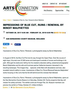 I saw the exhibit all setup today the people at the Museum did a phenomenal job thank you all and a big thank you to Melissa Russo director extraordinaire for everything!  #photography #exhibition #museum #art #sanbernardinocountymuseum @melissarusso #ImpressionsOfBlueCut #sbcmuseum #exploresbcm #discoversbcm
