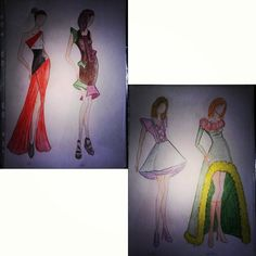 #fashion #illustration #fashionillustration #style #design #designer #seasons #winter #autumn #summer #spring #clothes #dress #colours