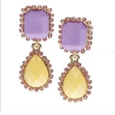 Coming soon!!! Reserve yours today!!! Pastel drop purple earrings. Lead and nickel free. Made of base metals and resin. Poshmark transactions only. Smoke free, cat friendly home. Photo courtesy of T&J Designs. T&J Designs Jewelry Earrings