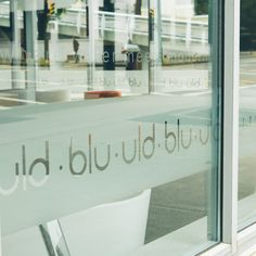 Blu Room window graphics
