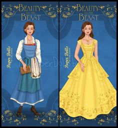 """Gefällt 617 Mal, 9 Kommentare - Cory Jensen (@paperdollsbycory) auf Instagram: """"I just couldn't wait to share a preview of my latest paper doll!!! @emmawatson as Belle in…"""""""