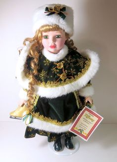 """Holiday lane collection limited Edition fine porcelain doll, 16"""", by Dollex 2004"""