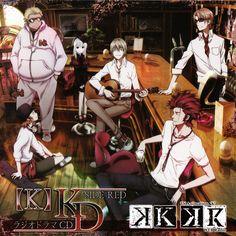 HOMRA: Kamamoto Rikio, Kushina Anna, Totsuka Tatara, Kusanagi Izumo, Mikoto Suoh and Yata Misaki. K Project # anime.