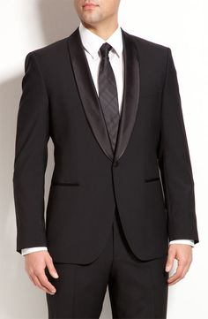 "Hugo Boss Trim Fit ""Sky/Gala"" Tuxedo. Not part of Nordstrom's Anniversary Sale, but I don't have anywhere to wear it anyway! A guy can dream..."