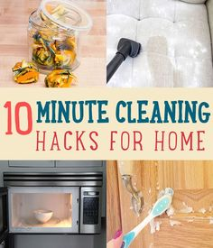 10 Minute Cleaning Hacks for Home | How To Tips and Tutorials For Shortcuts to Cleaning! http://diyready.com/10-minute-cleaning-hacks-that-will-keep-your-home-sparkling/