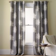 Queen Anne's Lace Printed Panel - contemporary - curtains - by West Elm