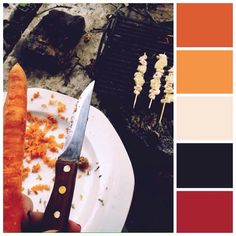 pineapple and #shrimp #skewers :) don't remember what we needed the #carrot for  though xD #mossomcolours #colourscheme #colourpalette