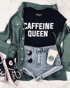 leichte Sommeroutfits - Sommer Outfits & OOTD - Source by grungepinbaby summer outfits casual Girls Fashion Clothes, Teen Fashion Outfits, Cute Fashion, Outfits For Teens, Street Style Fashion Girl, Women's Clothes, Cute Outfits For Girls, Concert Clothes, Teenage Girl Outfits
