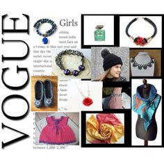 VogueGirls by penandhook on Polyvore featuring Lazuli, Hostess and Chanel