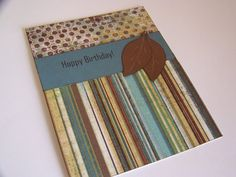 Birthday Card for Him Blue and Brown by WhisperingWildflower